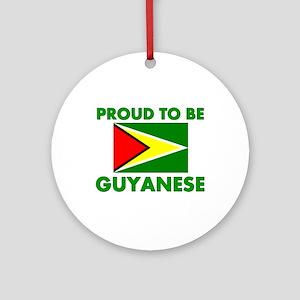 Proud Guyanese Ornament (Round)