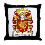 Ostrowski Family Crest Throw Pillow