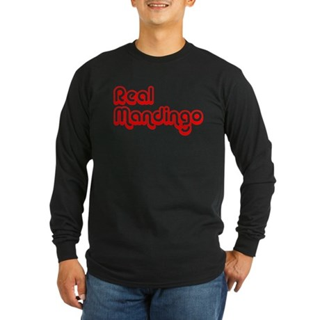 Real Mandingo - Black Tee-red Long Sleeve T-Shirt