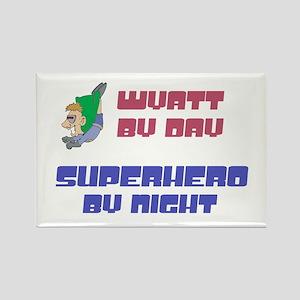Wyatt - Super Hero by Night Rectangle Magnet