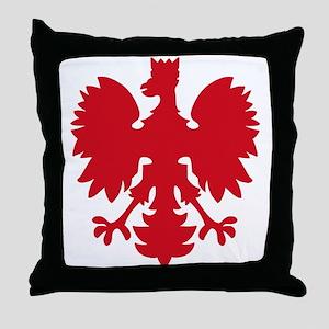 polish eagle Throw Pillow