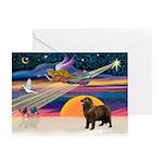XmasStar/ Newfie Greeting Cards (Pk of 10)