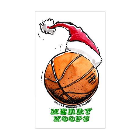 Merry Hoops Rectangle Sticker