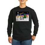 XmasSigns/2 Border Collies Long Sleeve Dark T-Shir