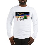 XmasSigns/2 Border Collies Long Sleeve T-Shirt