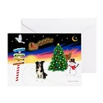 XmasSigns/BorderCollie 4 Greeting Card