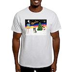 XmasSigns/BorderCollie 4 Light T-Shirt