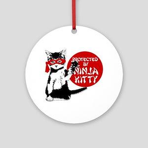 Ninja Kitty! Ornament (Round)