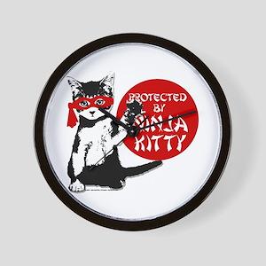 Ninja Kitty! Wall Clock