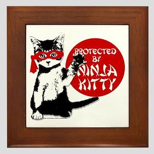 Ninja Kitty! Framed Tile