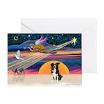 XmasStar/Border Collie #4 Greeting Card
