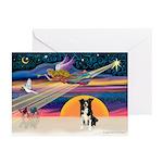 XmasStar/Border Collie #4 Greeting Cards (Pk of 20