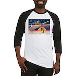 XmasStar/Border Collie #4 Baseball Jersey