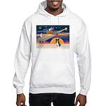 XmasStar/Border Collie #4 Hooded Sweatshirt