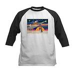 XmasStar/Border Collie #4 Kids Baseball Jersey