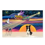 XmasStar/Border Collie #4 Postcards (Package of 8)