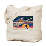 XmasStar/Border Collie #4 Tote Bag