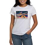 XmasStar/Border Collie #4 Women's T-Shirt