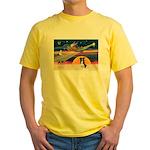 XmasStar/Border Collie #4 Yellow T-Shirt
