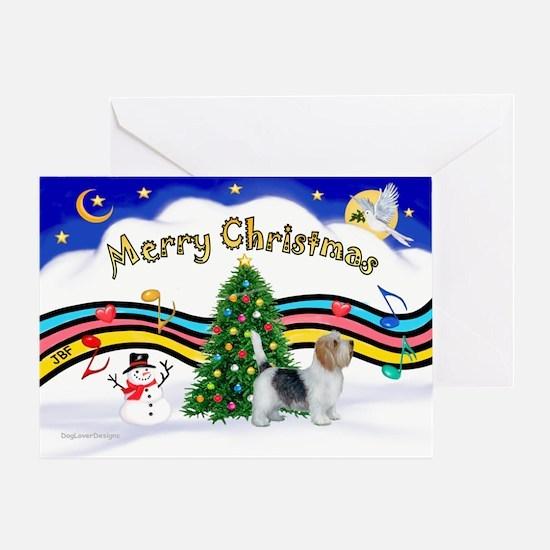 XmasMusic1/PBGV #9 Greeting Card