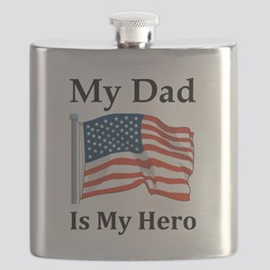 My Dad is my Hero Military Flask