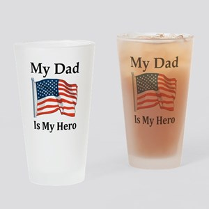 My Dad is my Hero Military Drinking Glass