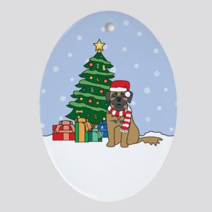 Leonberger Christmas Oval Ornament