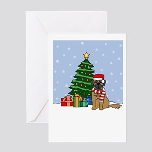 Leonberger dog christmas greeting cards cafepress leonberger howling holiday greeting card m4hsunfo