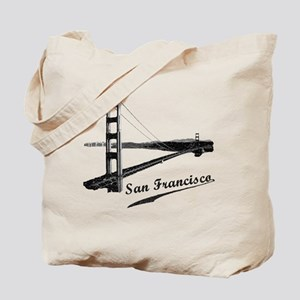Vintage San Francisco Reusable Tote Bag