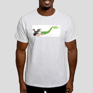Diving Mermaid  Ash Grey T-Shirt