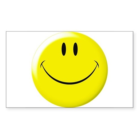 Smiley Face Rectangle Sticker 50 pk)