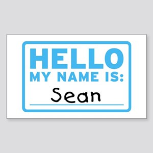 Hello My Name Is: Sean - Rectangle Sticker