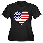 The Ultimate Shirt Women's Plus Size V-Neck Dark T