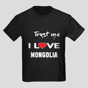 Trust me I Love Mongolia Kids Dark T-Shirt