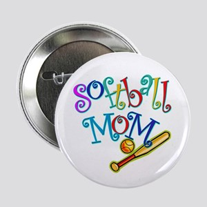 "Softball Mom II 2.25"" Button (10 pack)"