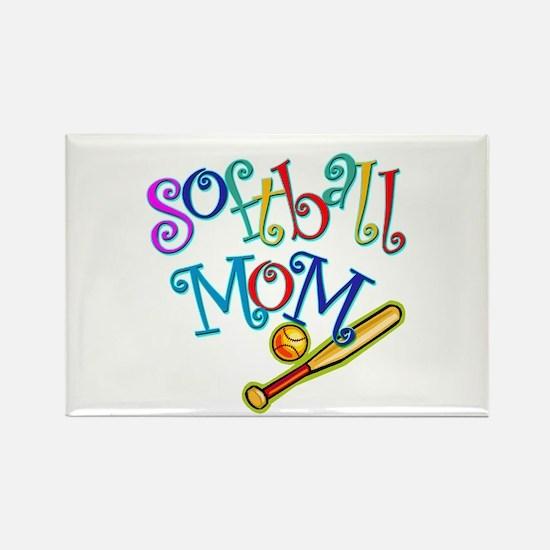 Softball Mom II Rectangle Magnet (10 pack)