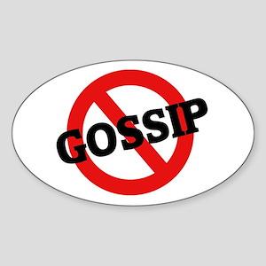 Anti Gossip Oval Sticker