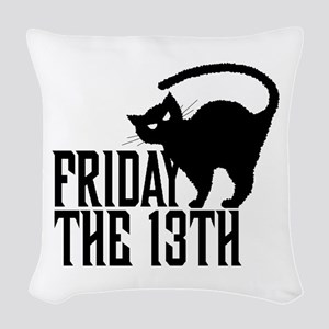 Friday the 13th Woven Throw Pillow
