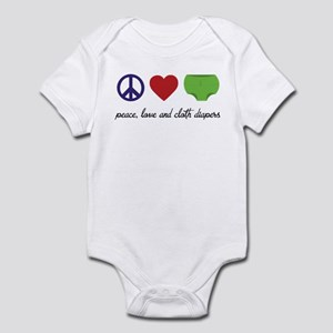 Peace, Love and Cloth Diapers Body Suit