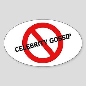 Anti Celebrity Gossip Oval Sticker