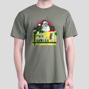 Pole Dancer for Santa! Dark T-Shirt