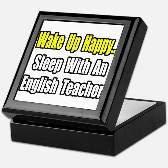 """Sleep With English Teacher"" Keepsake Box"