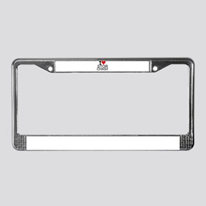 I Love Storm Chasing License Plate Frame