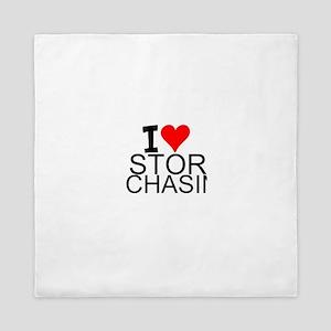 I Love Storm Chasing Queen Duvet