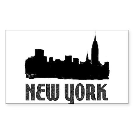 New York City Rectangle Sticker