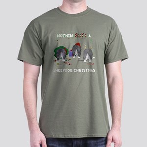 Nothin Butt A Sheepdog Xmas Dark T-Shirt