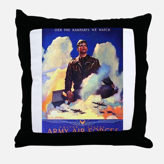 Ramparts We Watch Air Force Throw Pillow