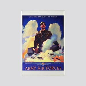 Ramparts We Watch Air Force Rectangle Magnet