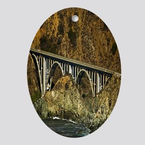 Big Sur Bridge 2 Oval Ornament