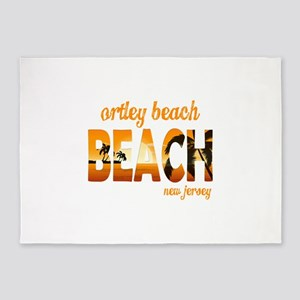 New Jersey - Ortley Beach (Toms Riv 5'x7'Area Rug